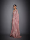 Rose Pink Saree With Unstitched Blouse