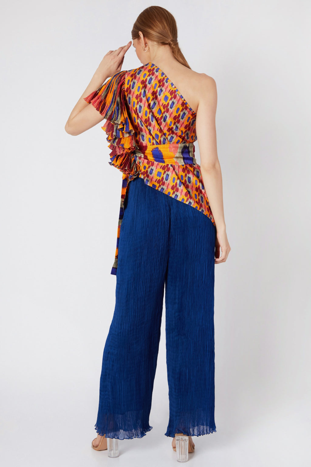 Saaksha & Kinni-Multi One Shoulder Blouse-INDIASPOPUP.COM