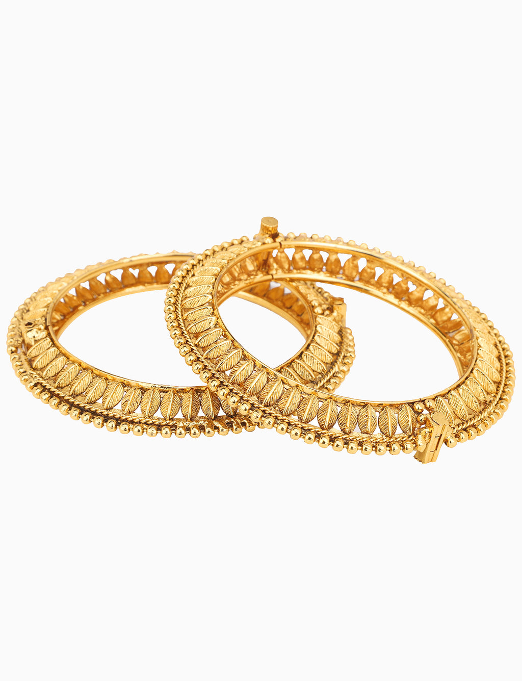 Sona Jewelry - Gold Plated Bangles With Paisley Motifs - INDIASPOPUP.COM