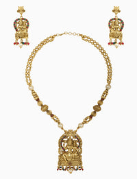 Sona Jewelry - Gold Plated Shiv-Parvathy Necklace Set - INDIASPOPUP.COM