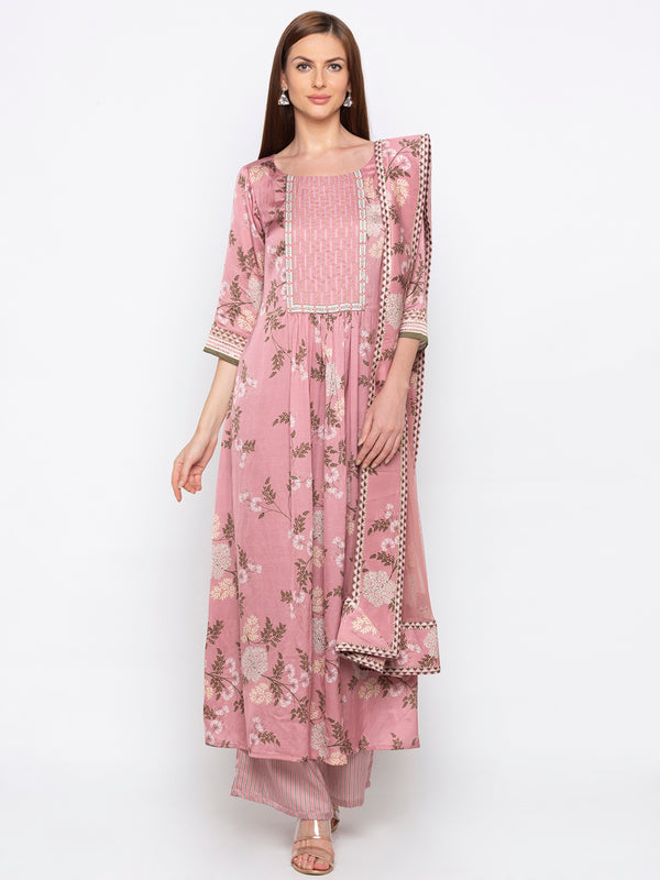 Soup By Sougat Paul - Pink  Top & Pants With Dupatta - INDIASPOPUP.COM