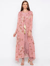 Soup By Sougat Paul - Pink Jacket With Jumpsuit - INDIASPOPUP.COM