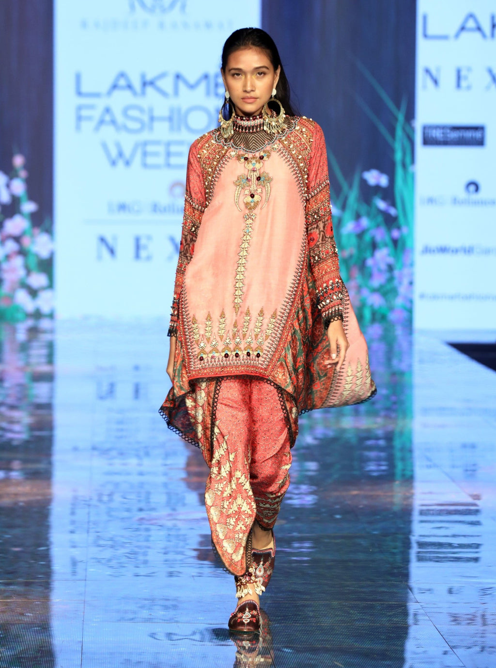 Rajdeep Ranawat-Rose Pink Tunic With Dhoti-INDIASPOPUP.COM