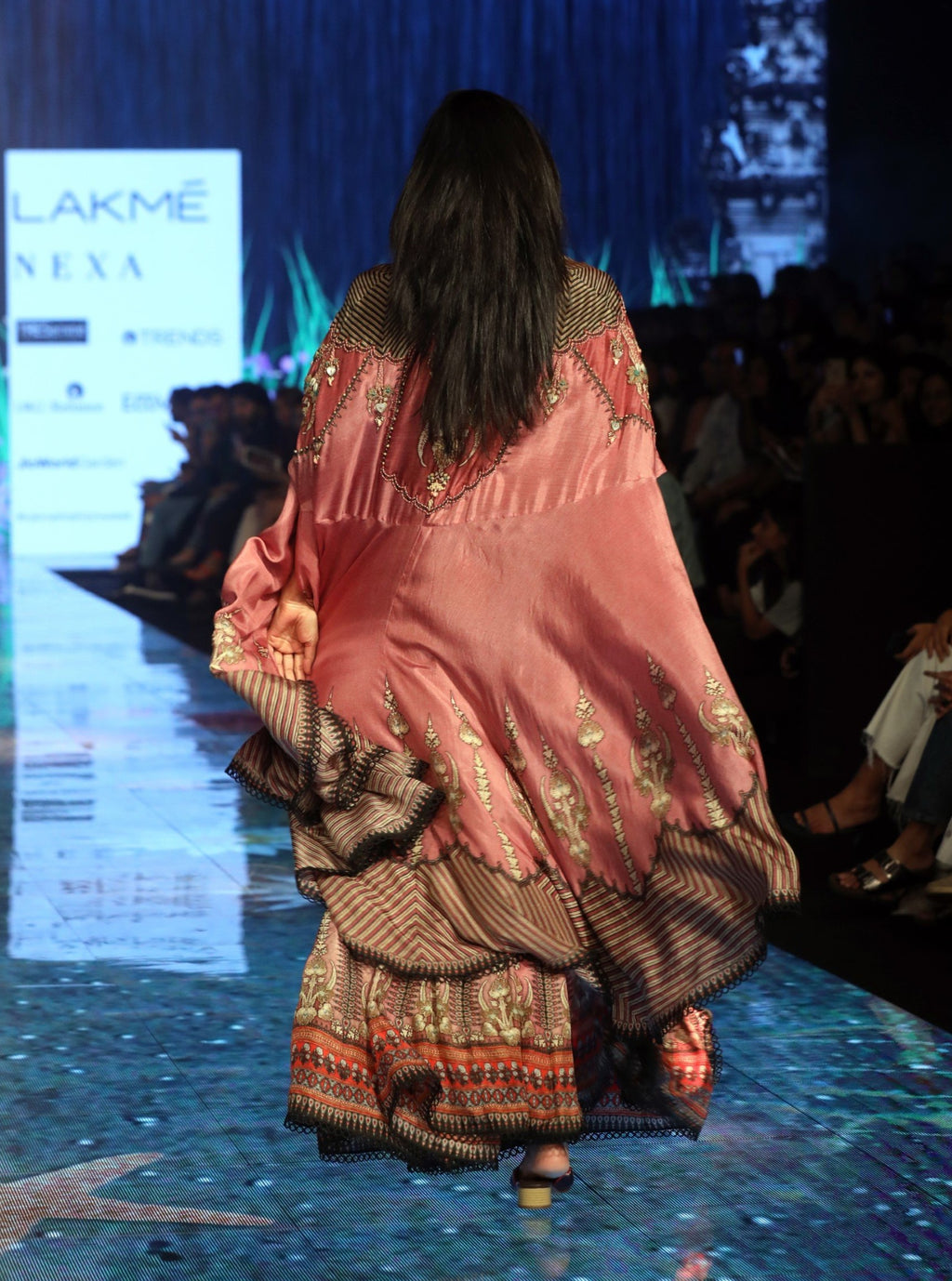 Rajdeep Ranawat-Old Rose Pink Cape With Bottom-INDIASPOPUP.COM