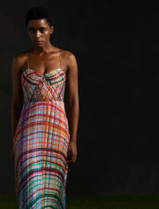 Saaksha & Kinni - Multicolor Micropleated Maxi Dress - INDIASPOPUP.COM