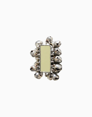 HYPERBOLE SILVER MIRROR VERTICAL RING WITH MIRROR