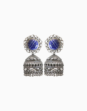 HYPERBOLE NAKSHI EARRINGS WITH BLUE LAPIS
