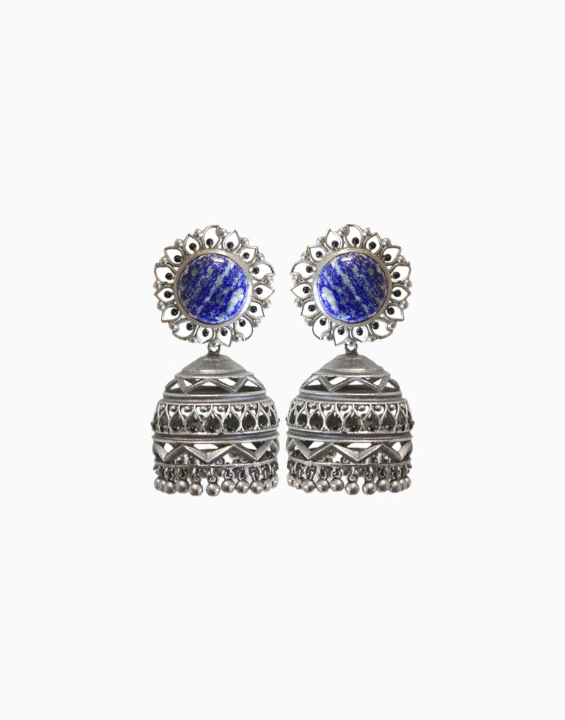 Hyperbole - Nakshi Earrings With Blue Lapis - INDIASPOPUP.COM