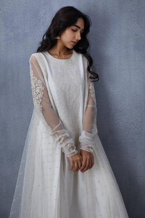 Torani-Off White Pants With Kurta & Dupatta-INDIASPOPUP.COM