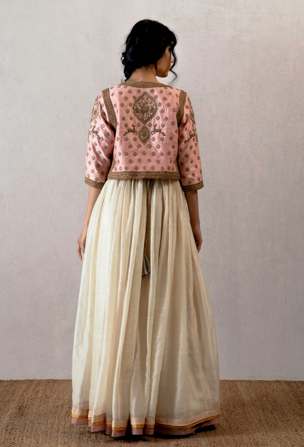 Torani - Off White Chanderi Dress - INDIASPOPUP.COM
