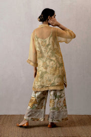 Torani - Yellow Organza Dress - INDIASPOPUP.COM