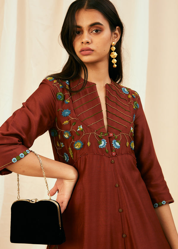 Wine Indian Coral Top