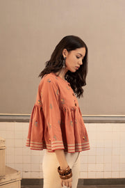 Payal Pratap-Pink Blakey Embroidered Top-INDIASPOPUP.COM
