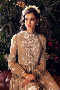 Bhumika Sharma - Light Beige Embroidered Jumpsuit - INDIASPOPUP.COM