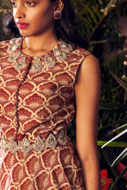 Bhumika Sharma - Maroon & Beige Kurta With Sharara Set - INDIASPOPUP.COM