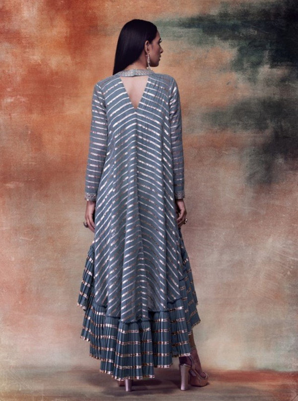 Vvani By Vani Vats - Mud Green Kurta With Dhoti Pants - INDIASPOPUP.COM