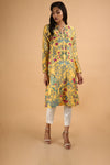 Yellow A-Line Kurta
