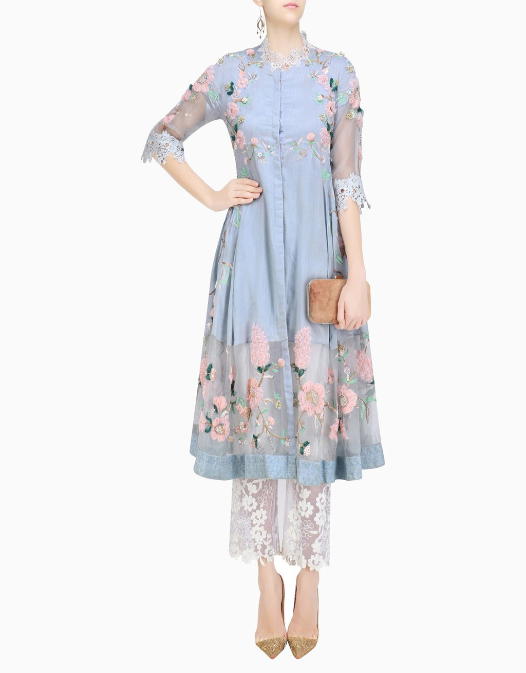 Abhishek Vermaa - Cherry Blossom Tunic And Pants - INDIASPOPUP.COM