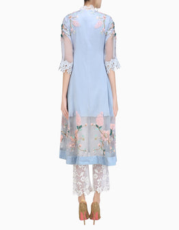 ABHISHEK VERMAA CHERRY BLOSSOM TUNIC AND PANTS