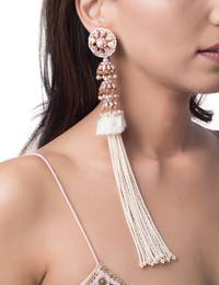 OUTHOUSE HERITAGE PEARL TASSEL EARRINGS