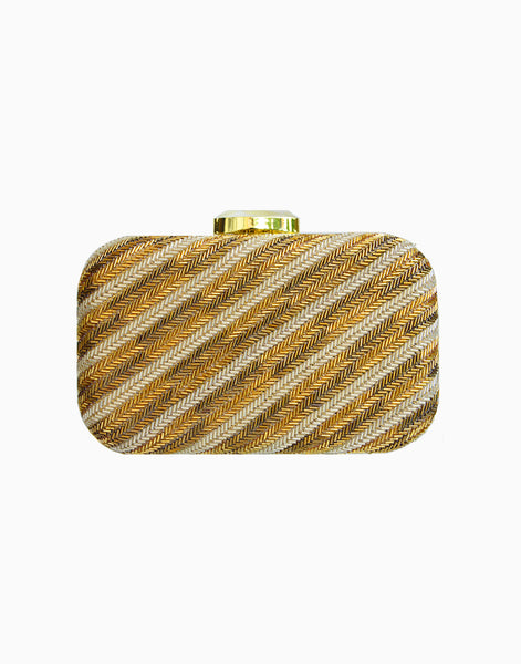 RUSARU ALTAIR GOLD SEQUIN CLUTCH