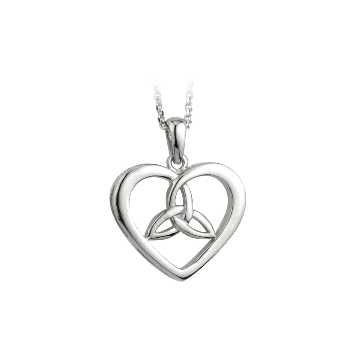 Heart trinity knot pendant celtic collections heart trinity knot pendant aloadofball Choice Image