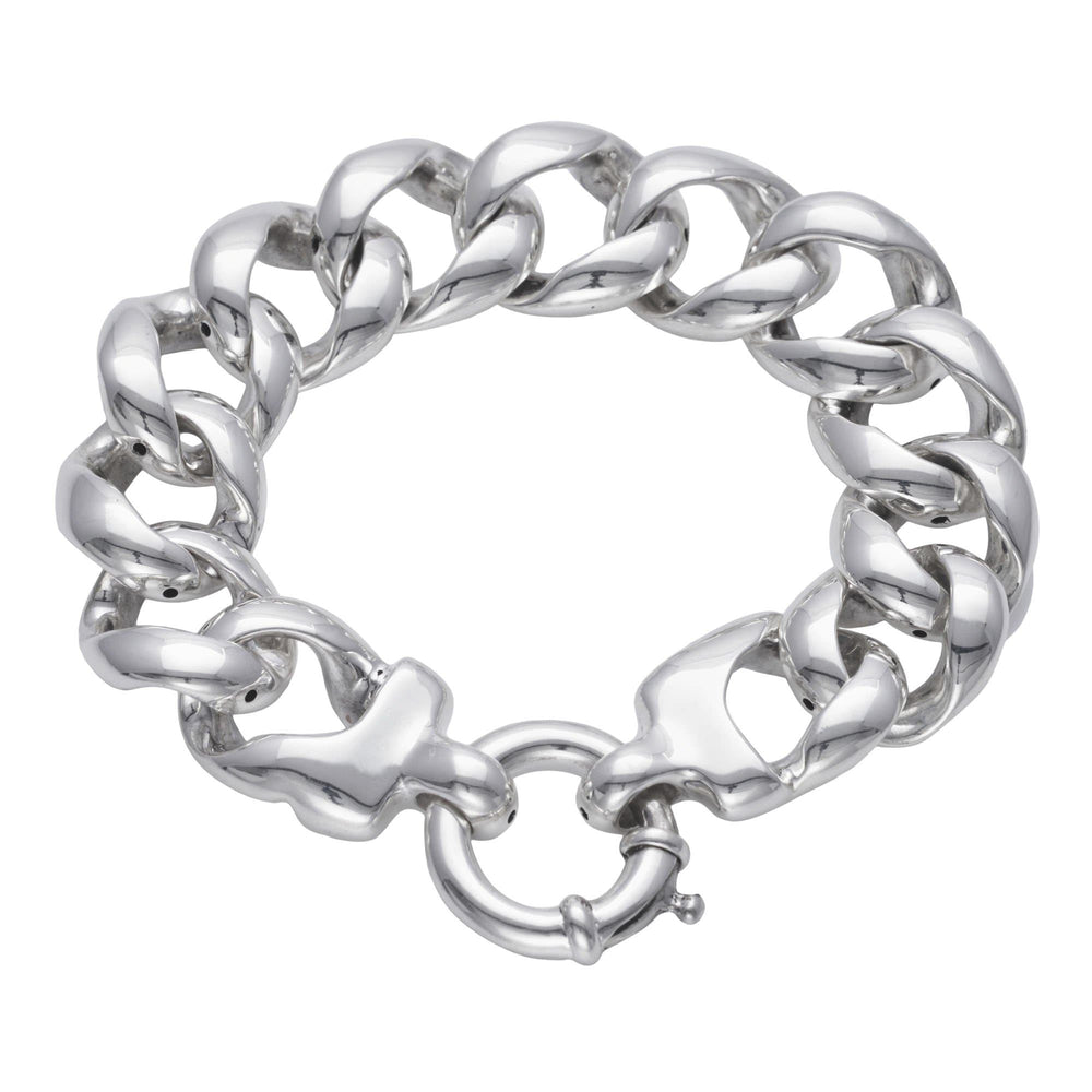 Sterling Silver Chunky Electroform Curb Chain Bracelet