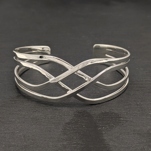 Load image into Gallery viewer, Sterling Silver Celtic Woven Adjustable Bangle