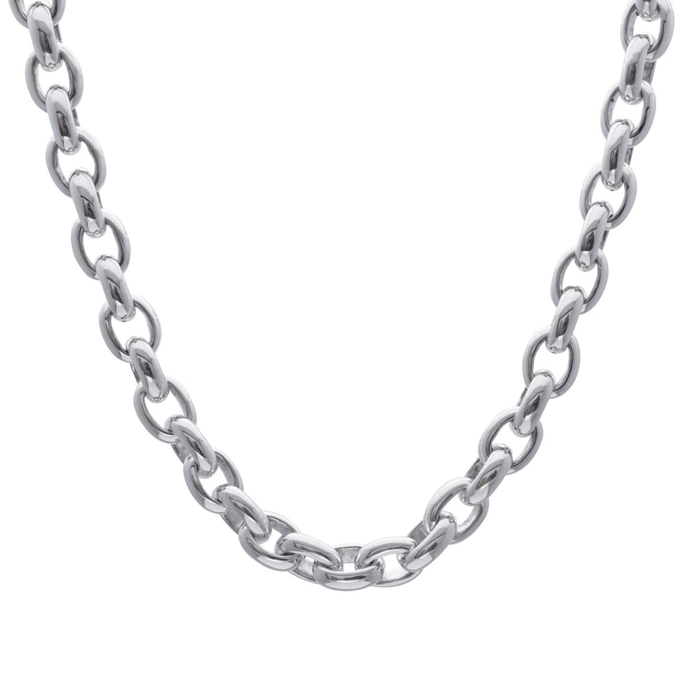 Sterling Silver Electroform Cable Chain Necklace