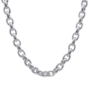 Load image into Gallery viewer, Sterling Silver Electroform Cable Chain Necklace