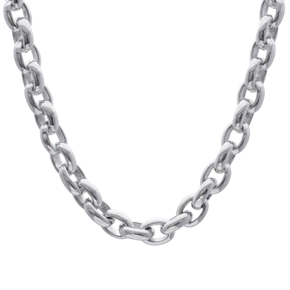 Sterling Silver Chunky Electroform Cable Chain Necklace