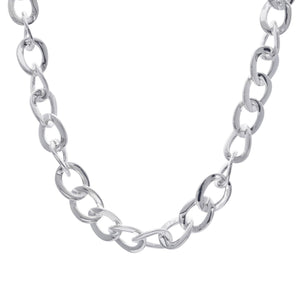 Load image into Gallery viewer, Sterling Silver Wide Electroform Curb Chain Necklace