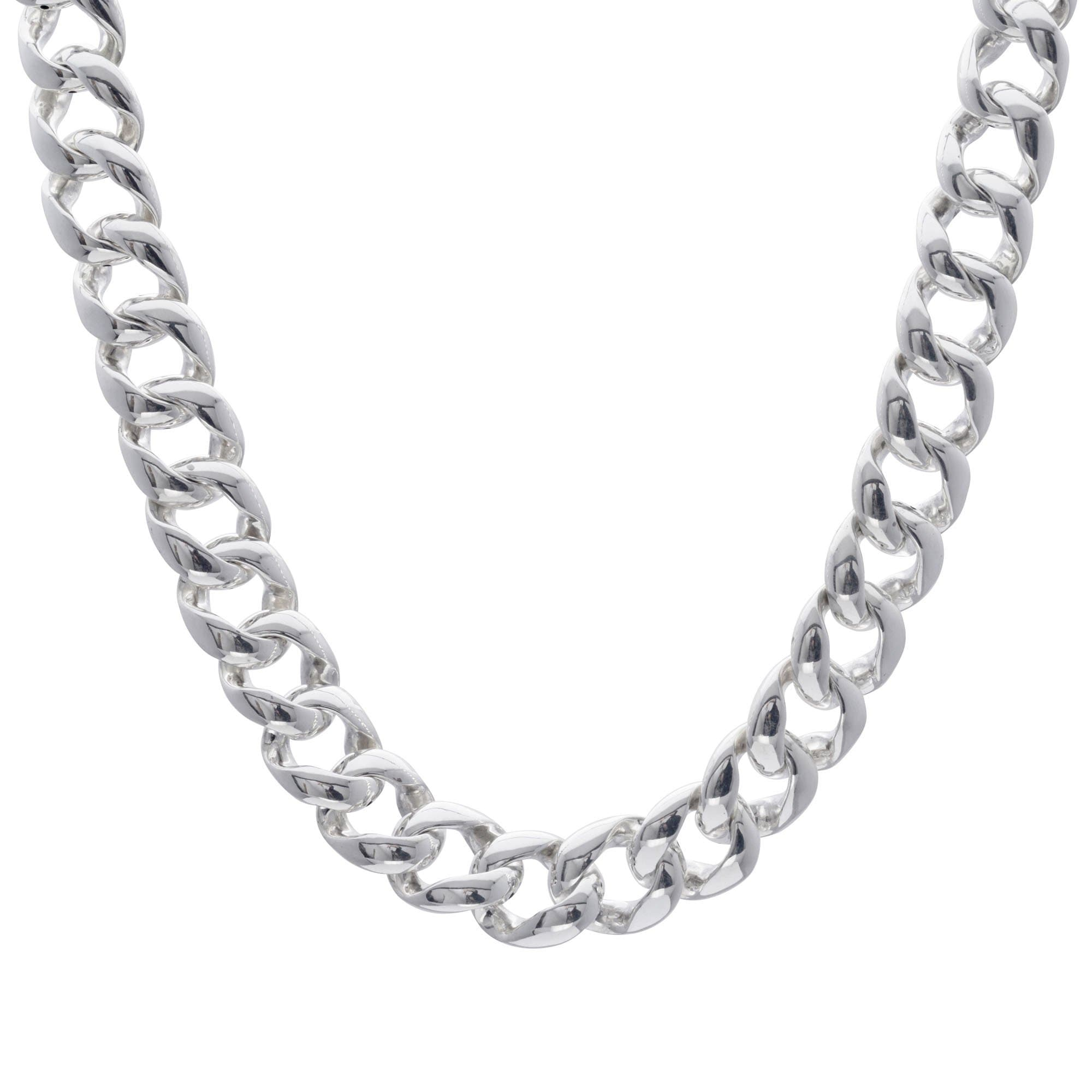 8c0324c0b Chunky Silver Necklace Curb Chain 50 cm - Silverly
