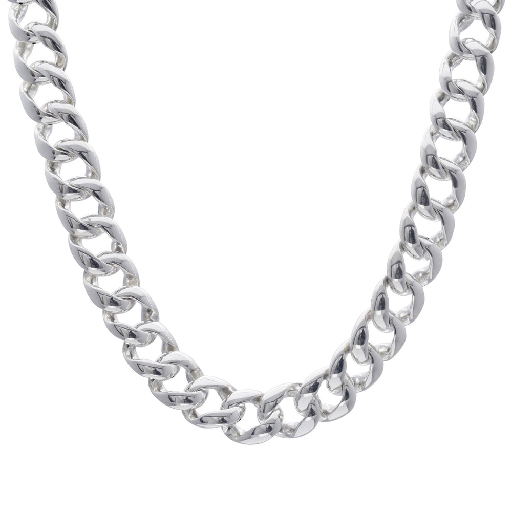 Sterling Silver Electroform Polished Curb Chain Necklace