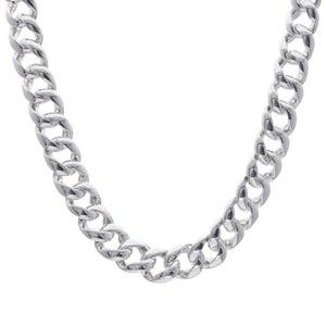Load image into Gallery viewer, Sterling Silver Electroform Polished Curb Chain Necklace