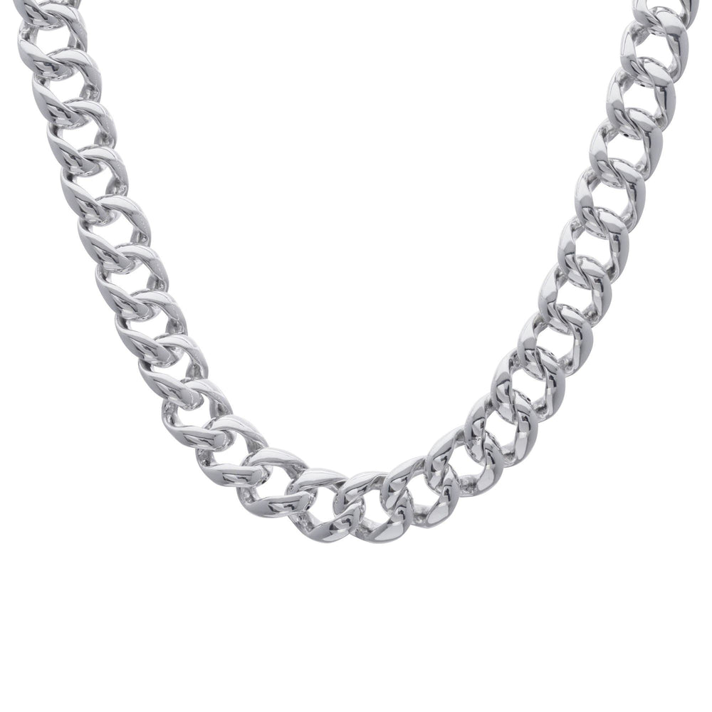 Sterling Silver Chunky Electroform Curb Chain Necklace