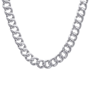 Load image into Gallery viewer, Sterling Silver Chunky Electroform Curb Chain Necklace