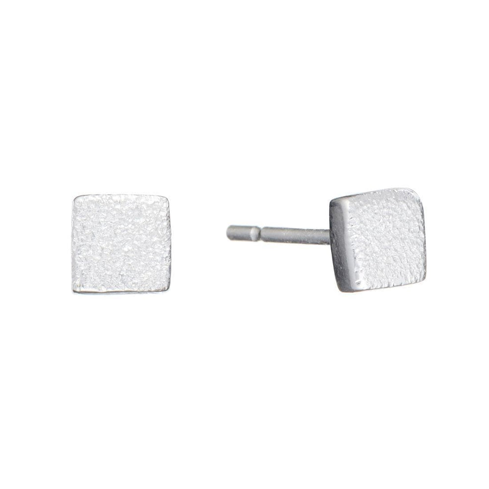 Sterling Silver Small Square Stud Earrings