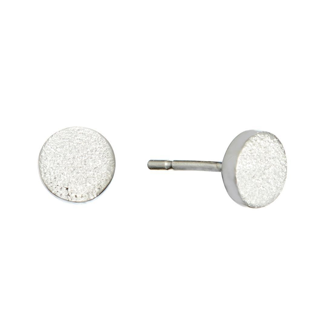 classic p round rh earrings elegant small