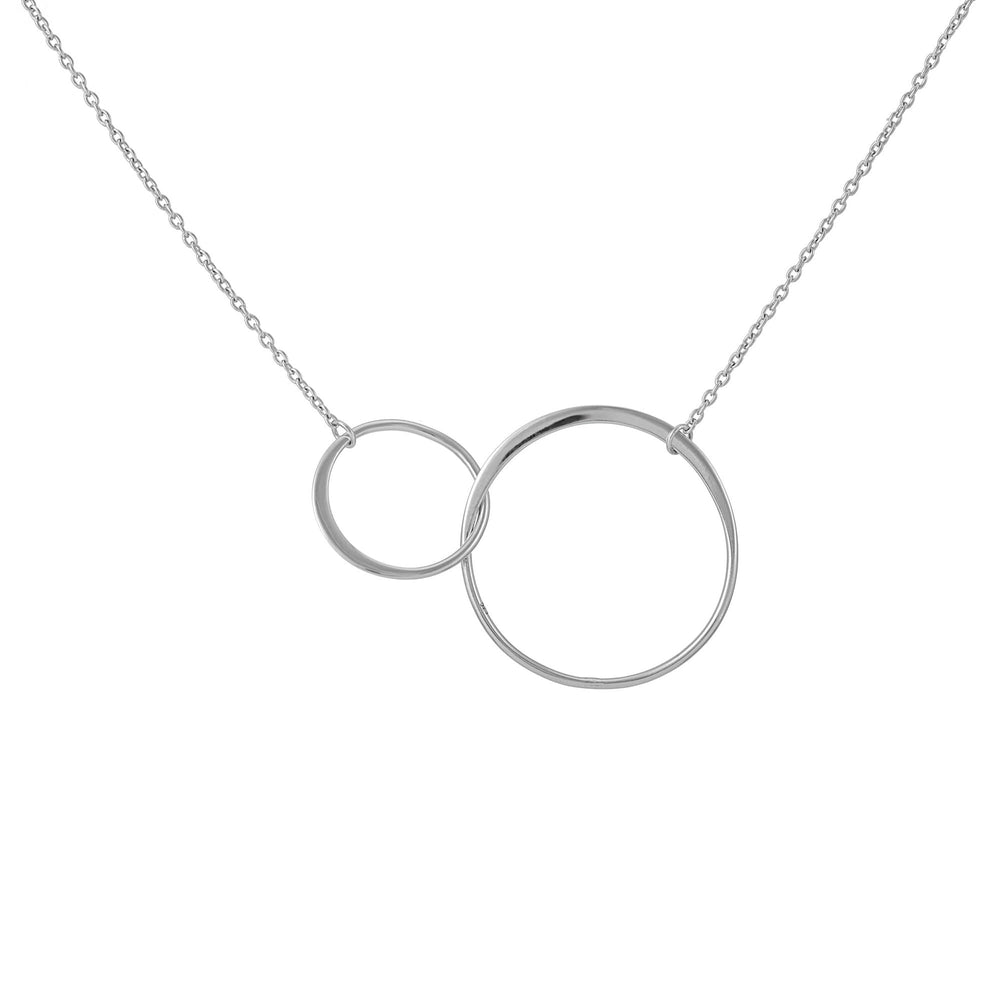 Sterling Silver Interlocking Circles Chain Necklace