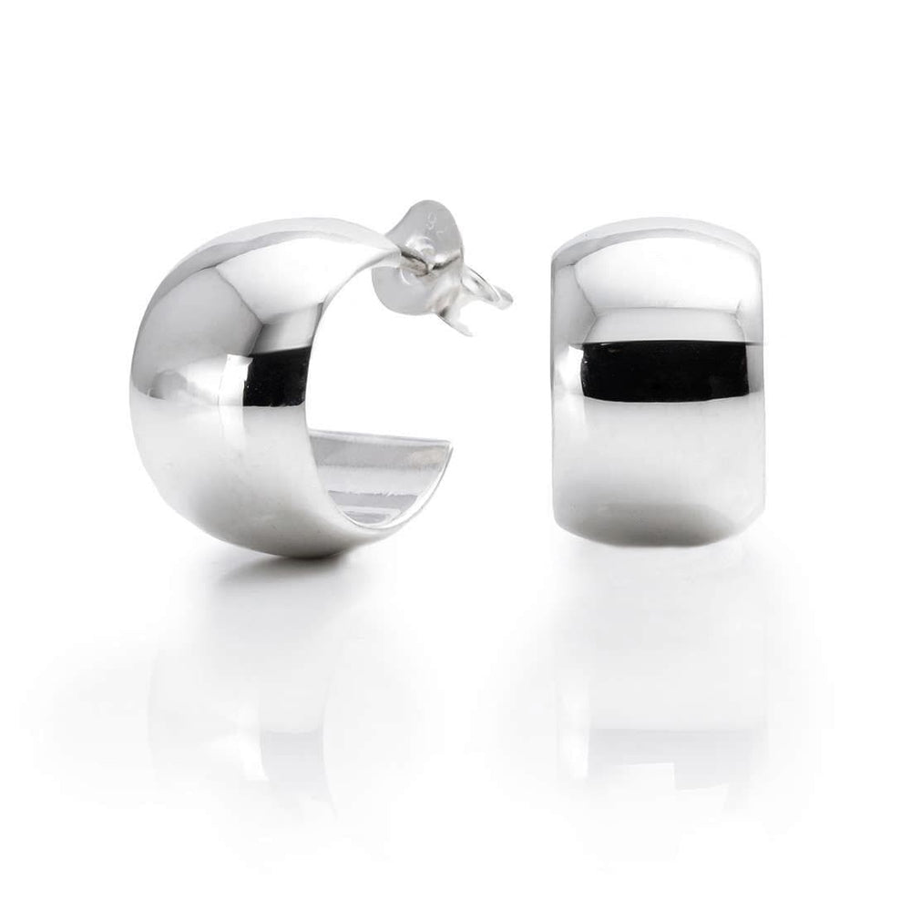 Load image into Gallery viewer, Sterling Silver Cuff Hoop Stud Earrings - Silverly
