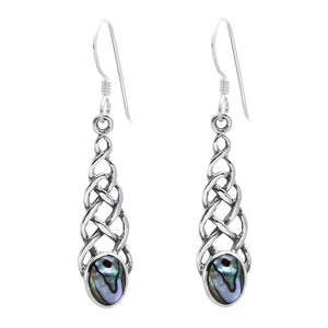 Load image into Gallery viewer, Sterling Silver Celtic Abalone Earrings