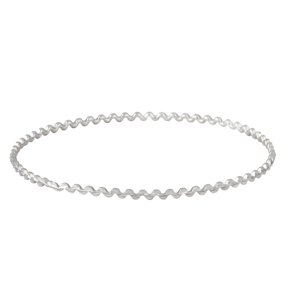 Silver Low Wave Bangle