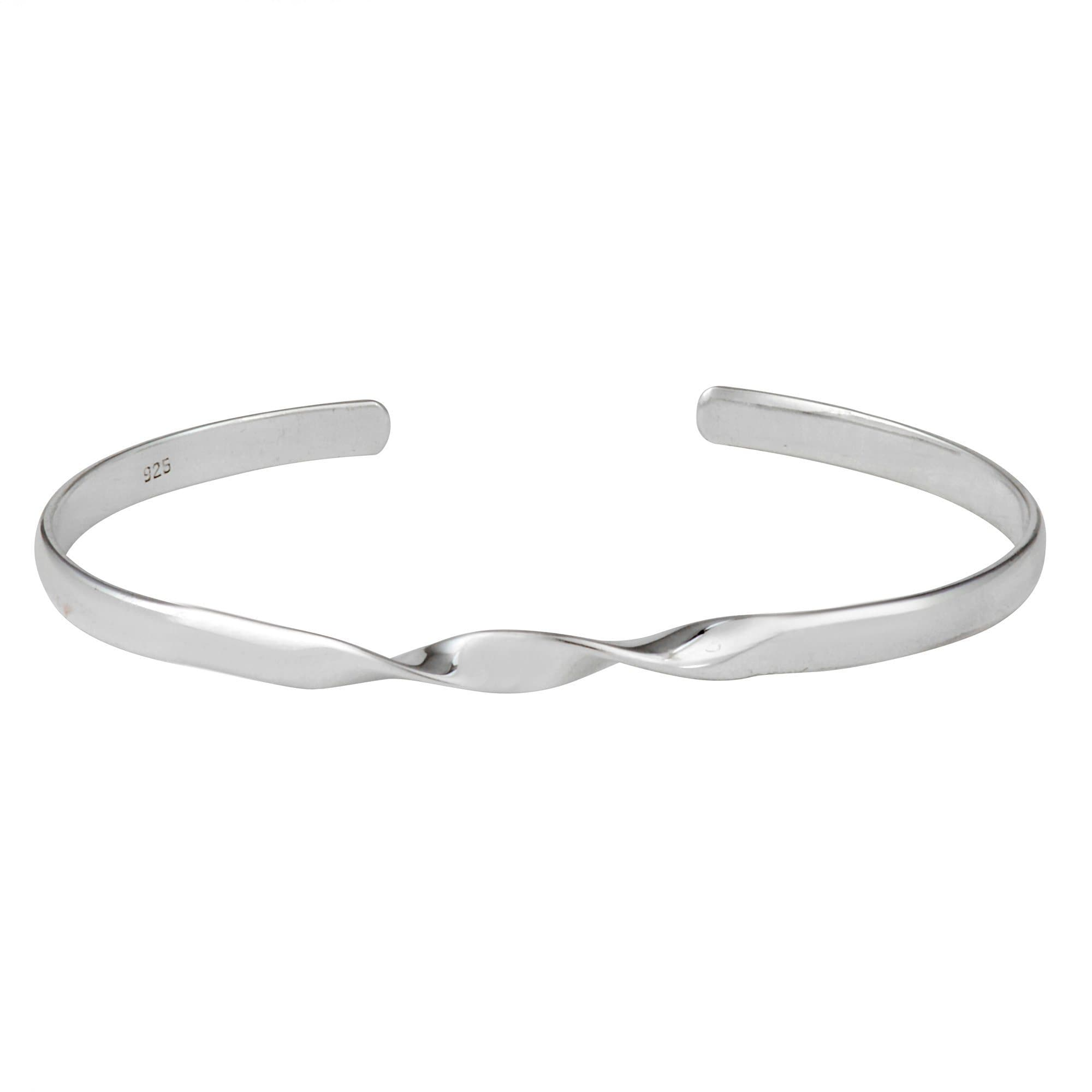 silver lasso hook womens sterling simple silverly products pressure clasp heart bracelet bangles polished bangle