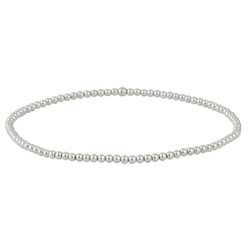 Load image into Gallery viewer, Sterling Silver Tiny Bead Ball Elastic Stretch Bracelet