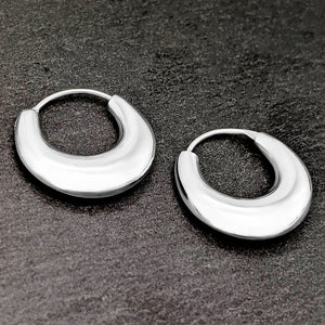 Load image into Gallery viewer, Sterling Silver Hinged Small Huggie Hoop Earrings