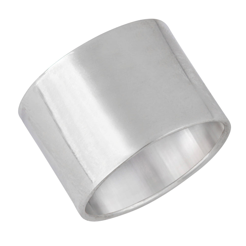Sterling Silver Polished Plain Smooth Straight Ring - Silverly