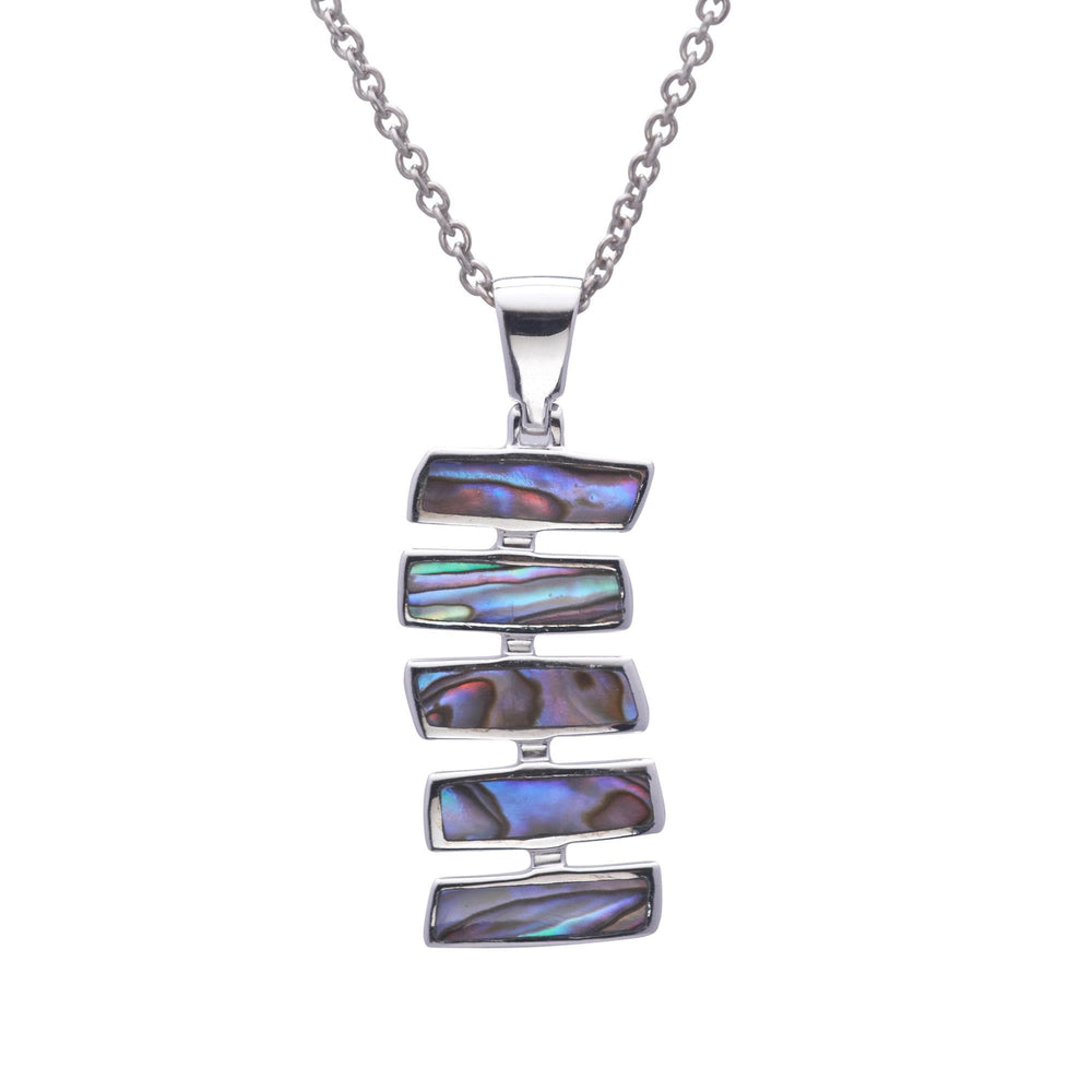 Sterling Silver Abalone Shell Long Necklace - Silverly