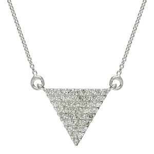 Load image into Gallery viewer, Sterling Silver Triangle Cubic Zirconia Necklace - Silverly