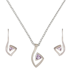 Load image into Gallery viewer, Sterling Silver Amethyst Musical Note Set - Silverly